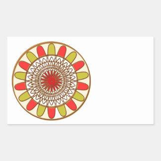 Gold Border SUNFLOWER Chakra Mandala Rectangular Sticker