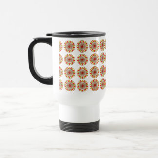 Gold Border SUNFLOWER Chakra Mandala Travel Mug