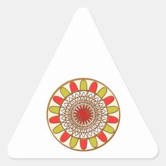 Gold Border SUNFLOWER Chakra Mandala Triangle Sticker