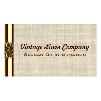 Gold Border Vintage Linen Business Cards