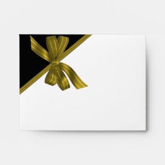 Gold Bow Custom Envelope