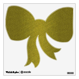 Gold Bow Wall Sticker