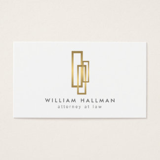 Gold Boxes Professionally Elegant Business Card