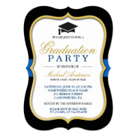 Gold Bracket Frame Modern 2017 Graduation Party Card