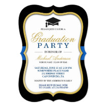 Gold Bracket Frame Modern 2018 Graduation Party Card