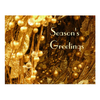 Gold branches postcard