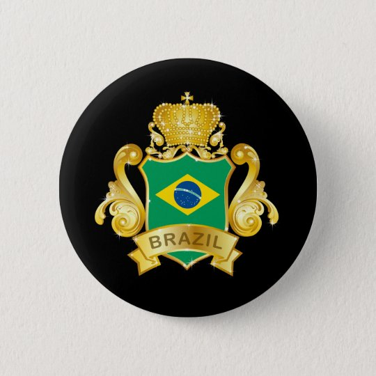 Gold Brazil Button