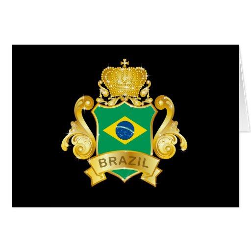 Gold Brazil Greeting Card
