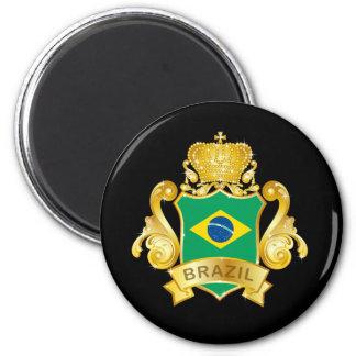 Gold Brazil Magnet