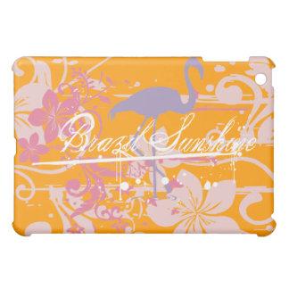 Gold Brazil Sunshine Flamingo  iPad Mini Covers