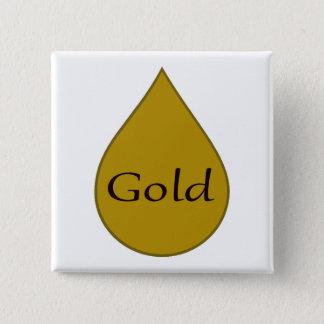 Gold breastfeeding award badge 1 year button