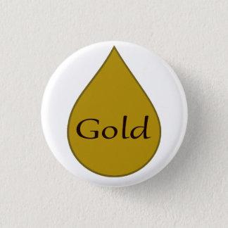 Gold breastfeeding award badge. 1 year pinback button