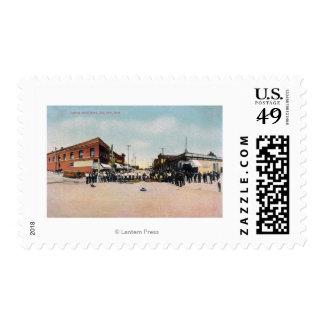 Gold Brick Laying SceneSnohomish, WA Postage Stamp