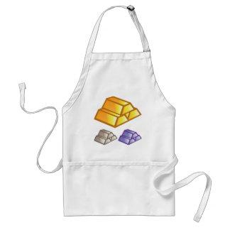 Gold bricks vector adult apron