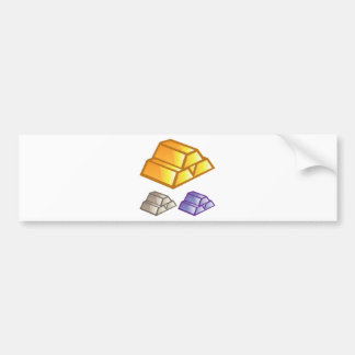 Gold bricks vector bumper sticker