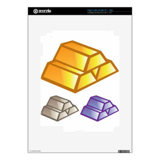 Gold bricks vector decal for the iPad 2