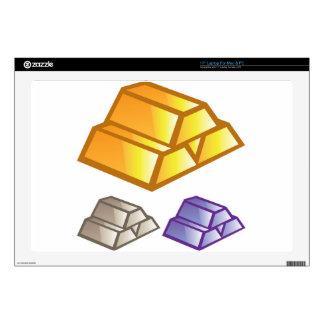 """Gold bricks vector skin for 17"""" laptop"""