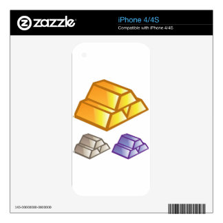 Gold bricks vector skin for the iPhone 4