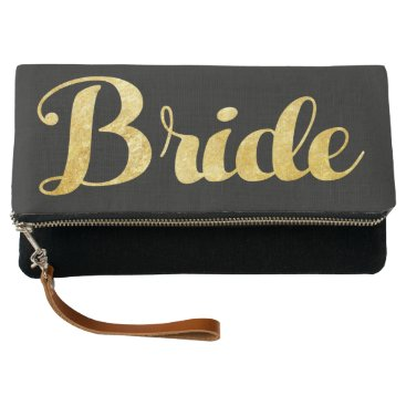 Bride Themed Gold bride clutch