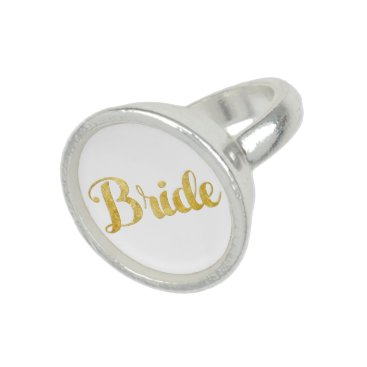 Bride Themed Gold bride photo ring