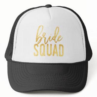 Gold Bride Squad Trucker Hat