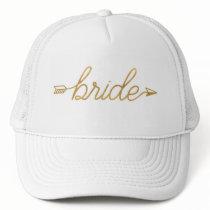 Gold Bride Trucker Hat