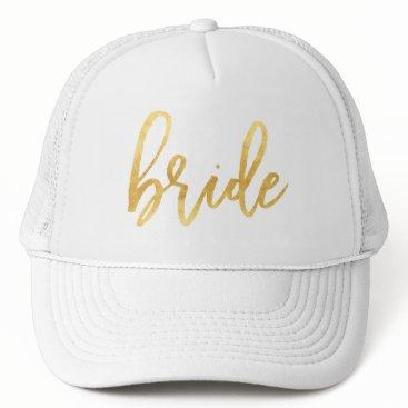 KB_Paper_Designs Gold Bride Trucker Hat