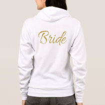 Gold Bride Typography Hoodie
