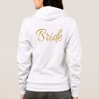 Gold Bride Typography Hoodie