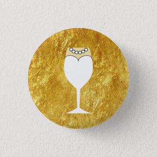 Gold Bride's Guest Flair Pinback Button