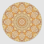 Gold Brocade 2 Classic Round Sticker