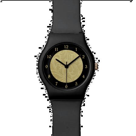 Gold Brocade Pattern Wrist Watch
