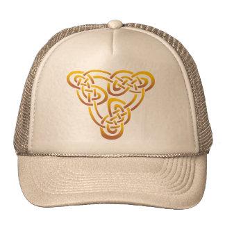 Gold Bronze Celtic Trinity Knot Trucker Hat
