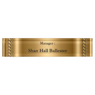 Gold Bronze Chain Image Add Name Name Plate