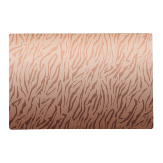 Gold Bronze Ombre Tiger Print Placemat