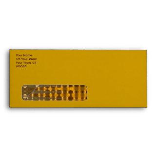 gold bronze patttern envelope