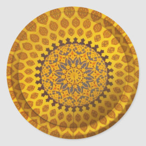 Gold Bronze Persian Motif sticker