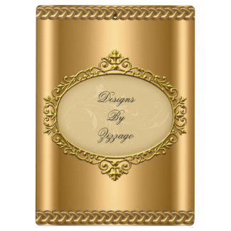 Gold Bronze Plaque Chain Add Business Name Clipboard