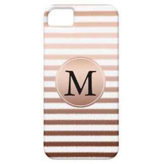 Gold Bronze Stripes Ombre Monogram iPhone SE/5/5s Case