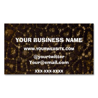 Gold Brown Cheetah Abstract Business Card Magnet