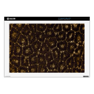 "Gold Brown Cheetah Decals For 17"" Laptops"