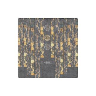 Gold Brown Cheetah Leopard Stone Magnet