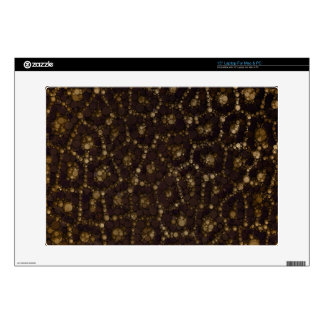 "Gold Brown Cheetah Skins For 15"" Laptops"