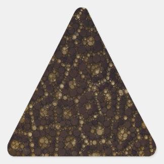 Gold Brown Cheetah Triangle Sticker