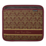 Gold & Brown Damask Pattern Sleeve For iPads