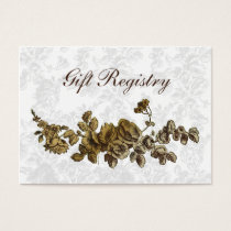 """""""gold brown"""" Gift registry  Cards"""