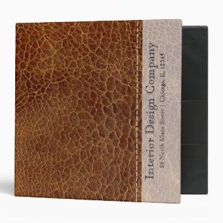 Gold brown leather look binder