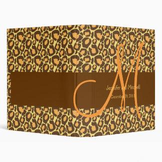 Gold Brown Leopard Pattern Wedding Planner Binder