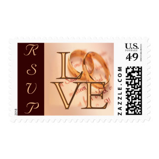 Gold/Brown LOVE, Wedding Bands O Design Stamps