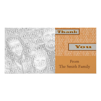 gold brown Thank You Card